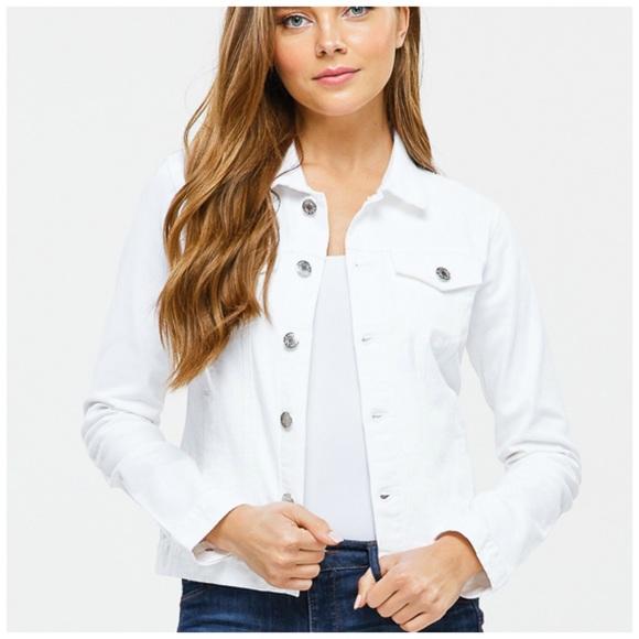 Blue Age Jeans USA Jackets & Blazers - NEW! Lightweight White Denim Jean Jacket